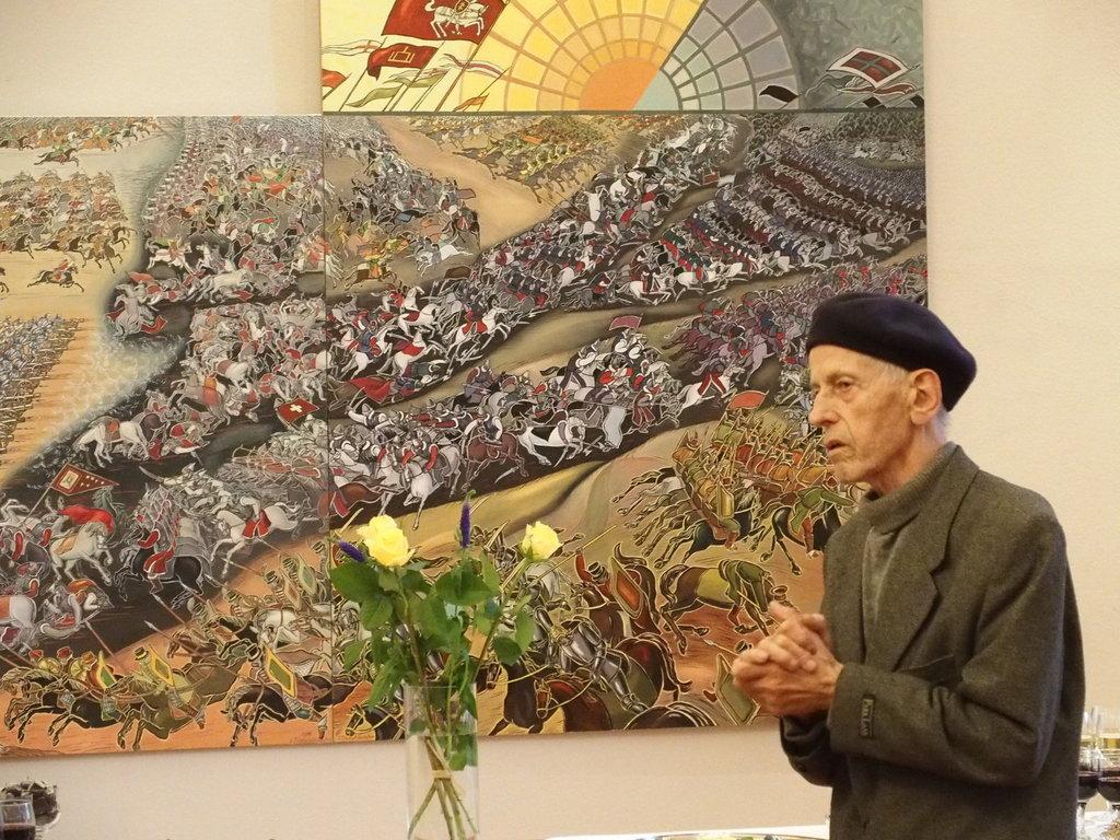 """""""Oršos-mūšis"""". Komentuoja dailininkas-A. Stasiulevičius."""