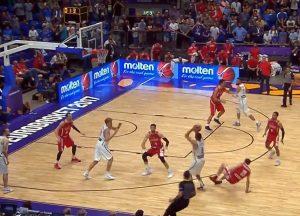 Europos krepšinio čempionate Lietuva nusileido Gruzijai 77:79 | Youtube.com stop kadras