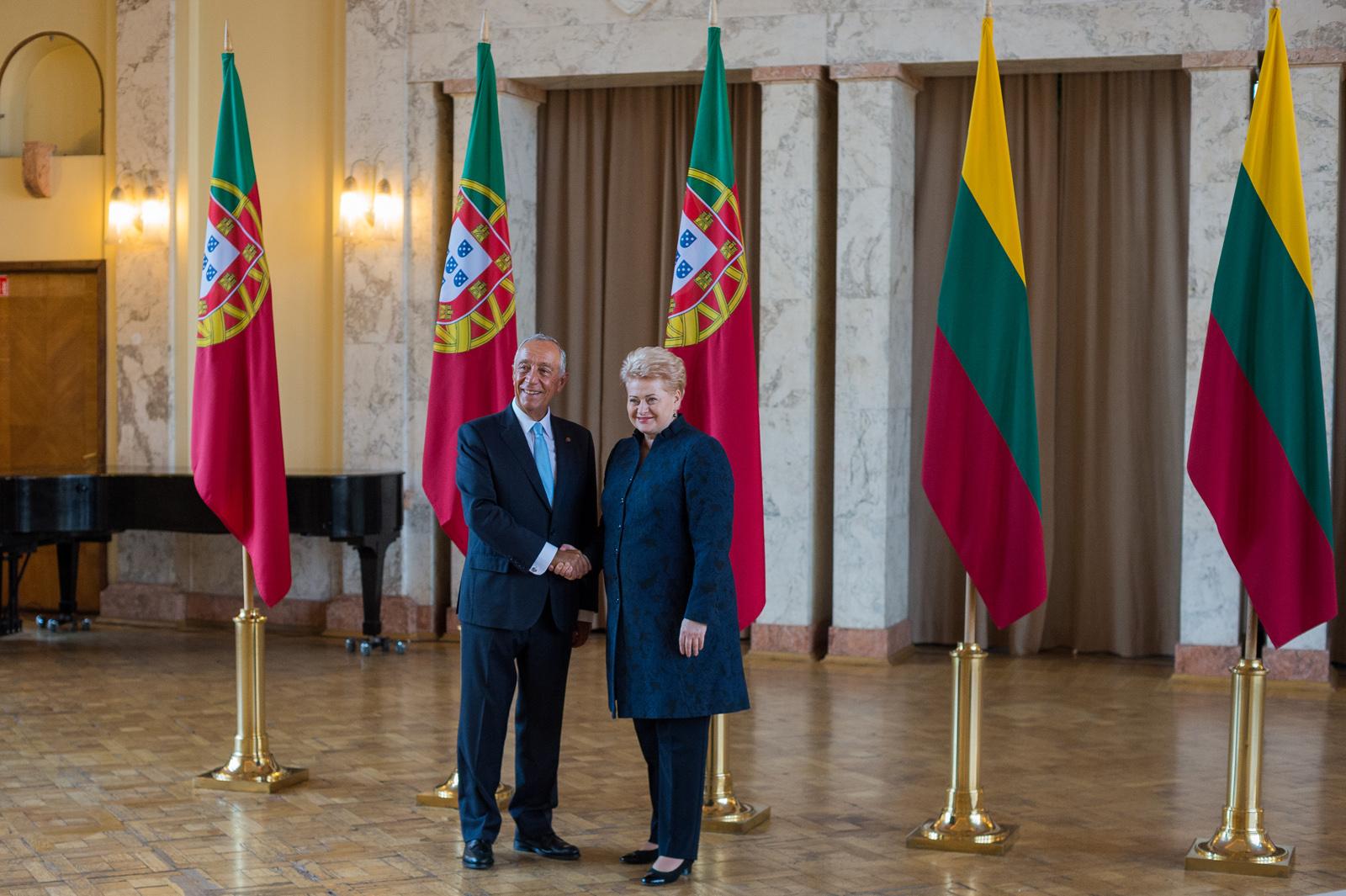 Prezidentė susitinka su Portugalijos Prezidentu Mercelo Rebelo de Sousa   lrp.lt nuotr.