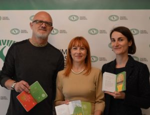 L. Degėsys, J. Petrauskienė ir S. Chlebinskaitė | SMM.lt nuotr.