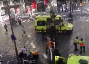 Teroro išpuolis Barselonoje | Youtube.com stop kadras