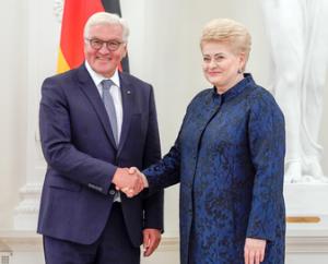 Oficialus Prezidentės ir Vokietijos Federalinio Prezidento Franko-Valterio Šteinmejerio susitikimas | lrp.lt, R. Dačkaus nuotr.