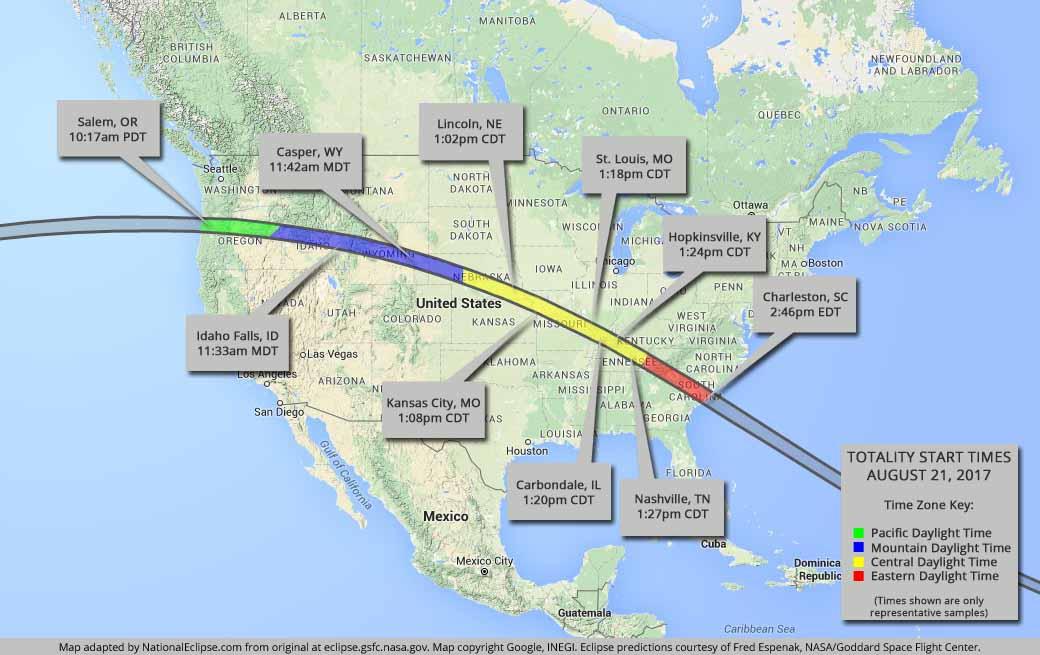 Visiško 2017-08-21 Saulės užtemimo kelias per JAV | nationaleclipse.com nuotr.