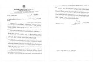 Seimo kanceliarijos Teisės departamento atsakymas LEU Ugdymo mokslų fakultetui