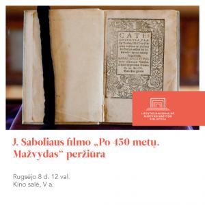 Filmas apie Mazvydo knyga