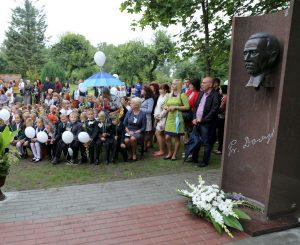 Atidengtas paminklas signatarui Pranui Dovydaičiu | Kauno r. savivaldybės nuotr.