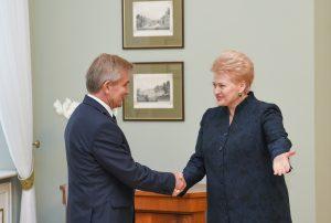 Viktoras Pranckietis ir Dalia Grybauskaitė | lrp.lt, R. Dačkaus nuotr.