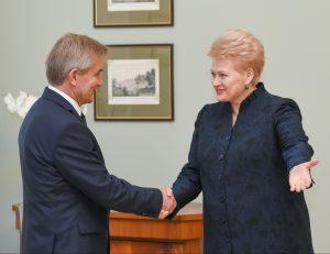 Viktoras Pranckietis ir Dalia Grybauskaitė   lrp.lt, R. Dačkaus nuotr.