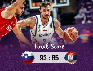 Slovenija-Serbija 93:85 | Twiter.com nuotr.