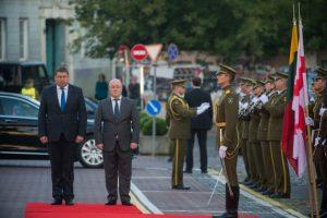 Vilniuje lankosi Gruzijos gynybos ministras | Alfredo Pliadžio nuotr.