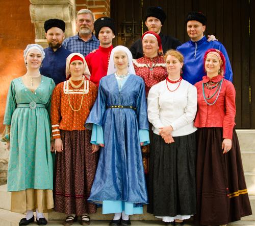 """Maskvos tradicinės kazokų dainos klubas """"Petrov Val"""" (Rusija)   arinuska.lt nuotr."""