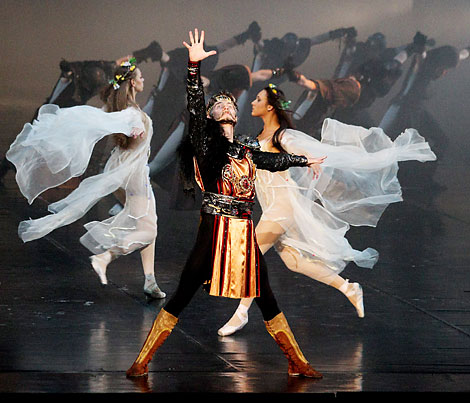 "Scena iš baleto ""Vytautas"" premjeros 2013 m. rugsėjo 5 d. | belarus.by nuotr."