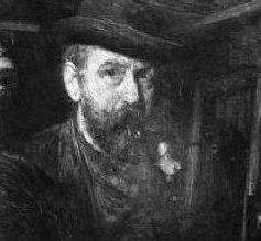 Paragių dvaro savininkas dailininkas Nikodemas Erazmas Ivanauskas | Autoportretas.
