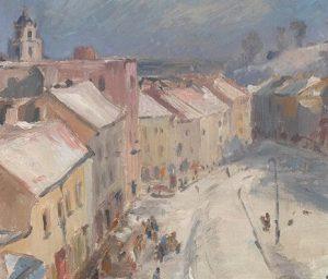 Vytautas Mackevičius. Vilnius. Didžioji gatvė, 1942. Fragmentas