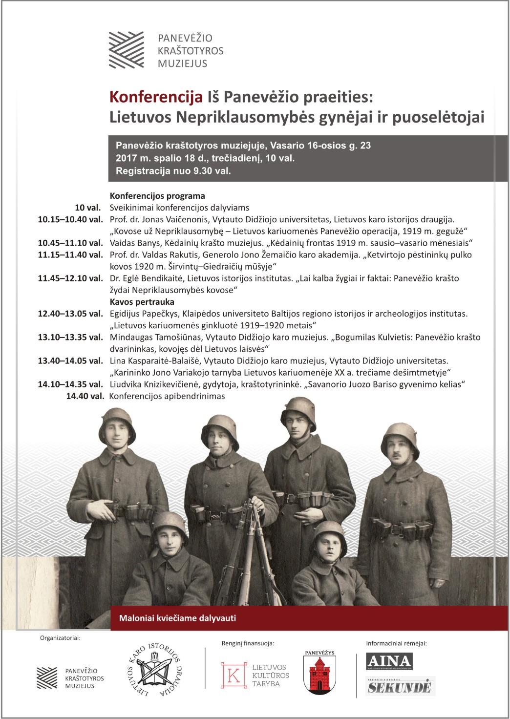 Iš Panevėžio Praeities Lietuvos Nepriklausomybės gynėjai ir puoselėtojai