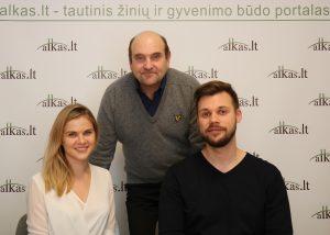 Miglė Jaraitė, Gerimantas Statinis ir Ignas Valeika | Alkas.lt nuotr.