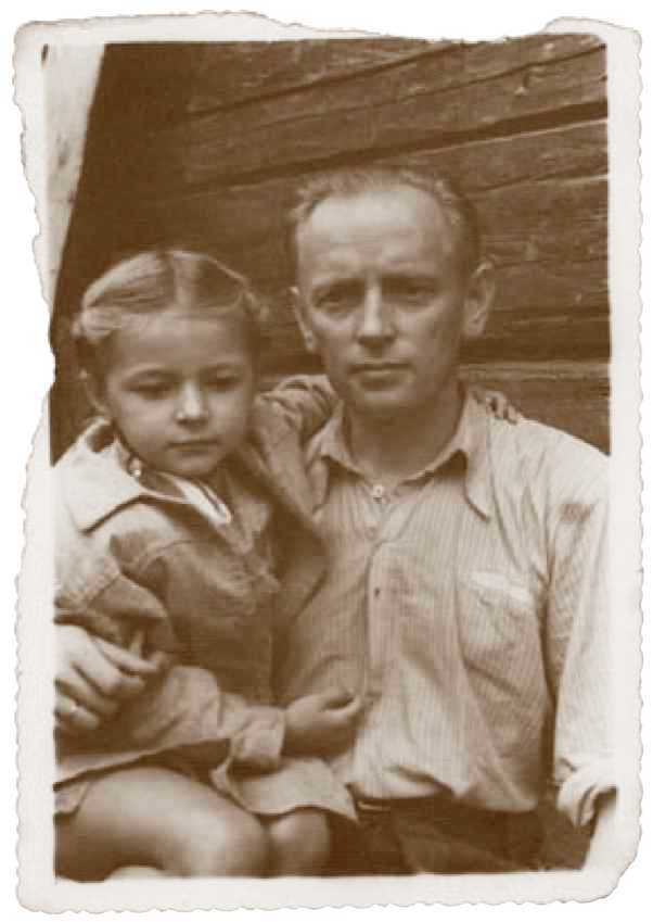 Generolas A. Ramanauskas-Vanagas su dukra Auksute 1953 m. | Archyvinė nuotr.
