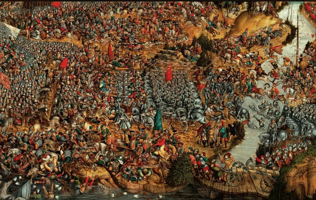 """Oršos mūšis (fragmentas), XVI a. 1-oji pusė dailininkas nežinomas (iš leidinio """"Kronika Polski"""". Krakow, 1998)"""