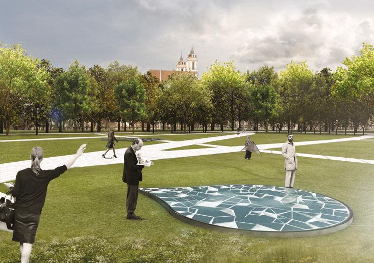 Algimanto Lelešiaus pasiūlymas Lukiškių aikštės memorialui | Konkurso rengėjų nuotr.