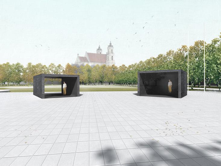 Dariaus Žiūros pasiūlymas Lukiškių aikštės memorialui | Konkurso rengėjų nuotr.