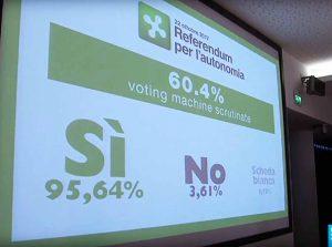 Italijos regionai Lombardija ir Venetas referendumuose pasisakė už didesnę autonomiją   Youtube.com nuotr.