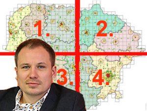 VRM siūlo 10 Lietuvos apskričių paversti 4 regionais? | Alkas.lt koliažas