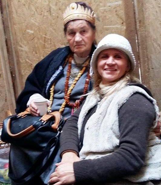 Su Magdalana Gedvilienė ugnies sergėjimo užuovėjoje | Asmeninė nuotr.