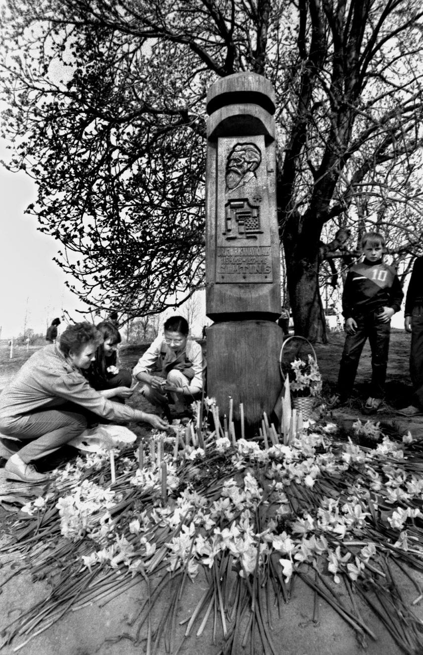 Jono Basanavičiaus sodybos atidarymas.1991. lapkričio 23d. | R.Čėplos nuotr.