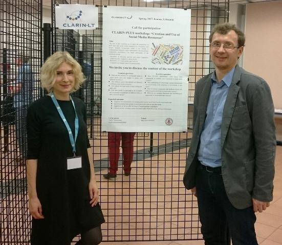 Jurgita Vaicenonienė ir Andrius Utka CLARIN ERIC konferencijoje_mokslolietuva.lt