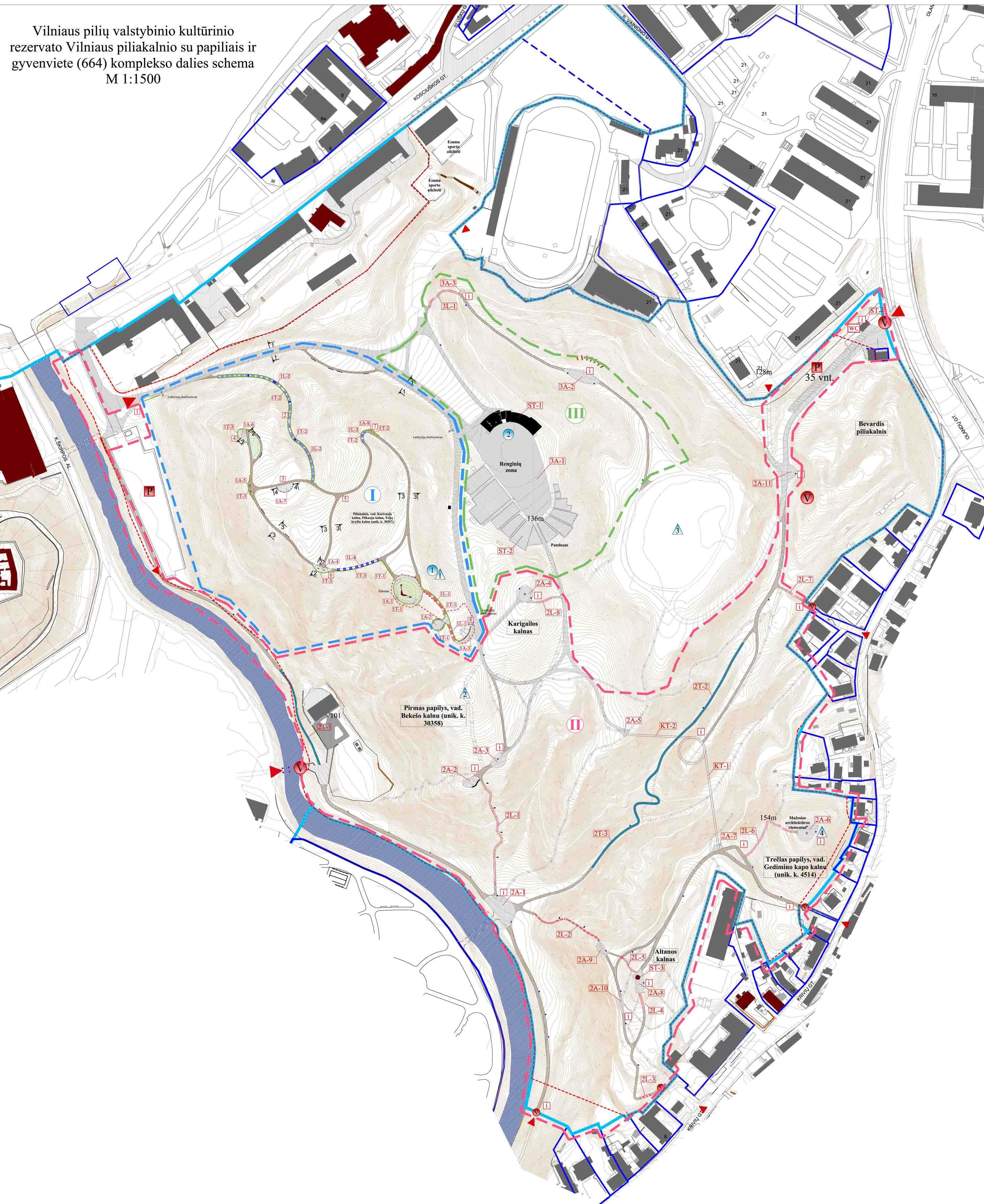 Dalies Kalnų parko schema | Alkas.lt nuotr.
