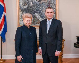 LR Prezidentė Dalia Grybauskaitė ir Gudni Torlasius Johanesonas | LRP nuotr.