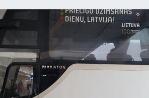 Latvijai keliauja Lietuvos sveikinimai | rengėjų nuotr.