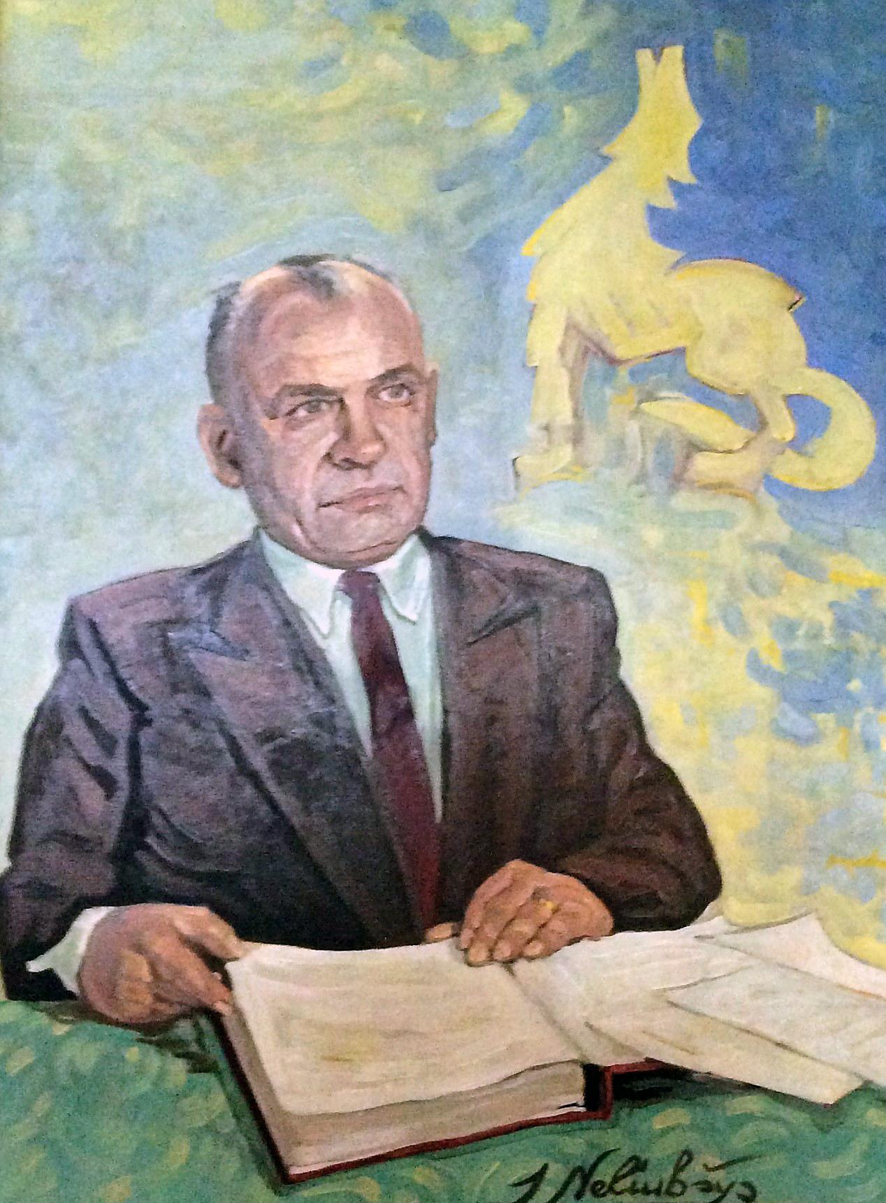V. Raginio portretas. Dailininkas Stasys Neliubšys, 1966 m. Portretas saugomas Adelaidės lietuvių muziejuje | D. Pociaus nuotr.