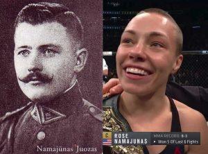 Juozas Namajūnas ir Rožė Namajūnaitė | Alkas.lt koliažas