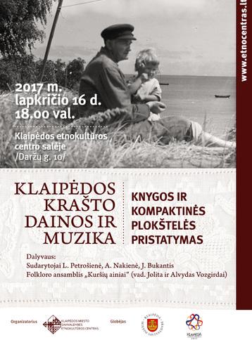 Leidinio pristatymo plakatas   Klaipėdos etnokultūros centro nuotr.