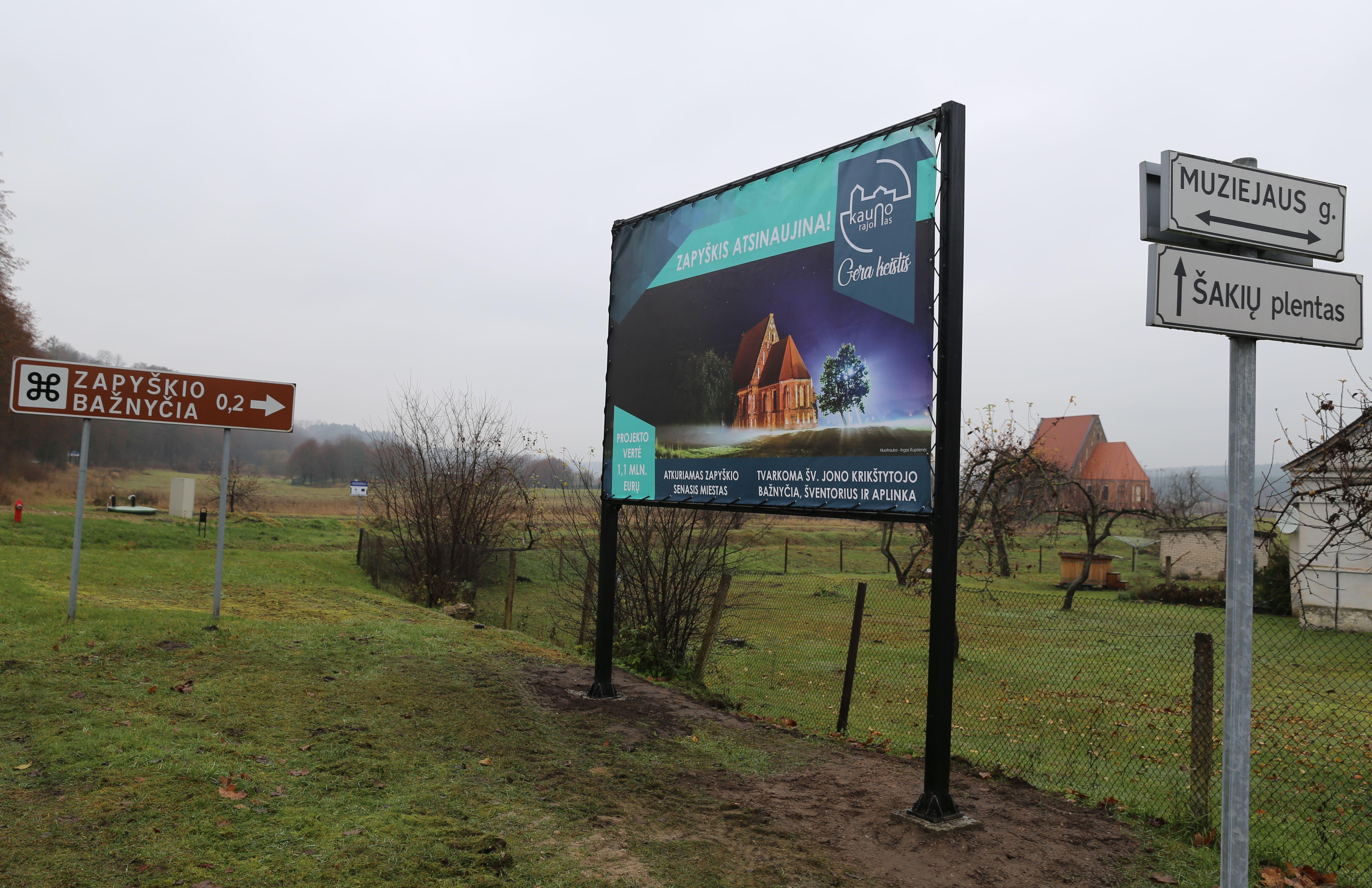 Zapyškio Šv. Jono Krikštytojo bažnyčios tvarkymo darbai prasidėjo skambant J. S. Bacho muzikai | Kauno rajono savivaldybės nuotr.