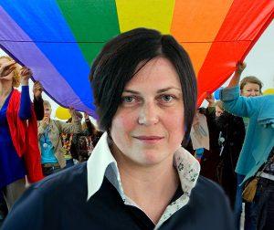 LGBT veikėja LaimaKreivytė | Alkas.lt koliažas