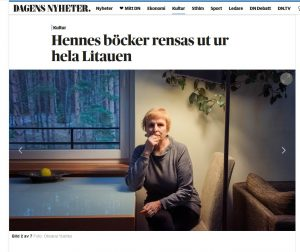 "Rūta Vanagaitė ""Dagens Nyheter"" leidinyje | Alkas.lt nuotr."