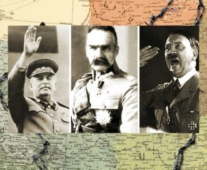 Stalinas, Pilsudskis, Hitleris | Alkas.lt koliažas