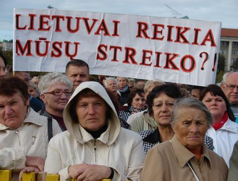 Lenkakalbių mitingas 2011 m. rugsėjo 27 d. | V. Kiero nuotr.