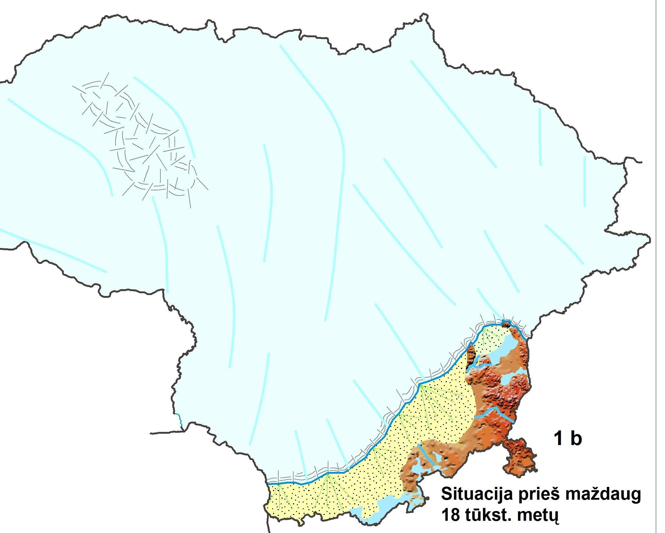 1 pav. B – Lietuvos nuledėjimo schema pagal R. Guobytę, 2015