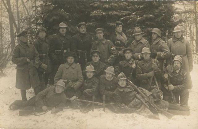 Dotnuvos savanoriai Klaipėdos krašte, 1923 m. | Archyvinė nuotr.