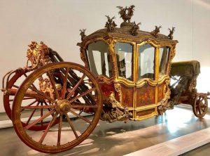 Viena iš karietų Nacionaliniame karietų muziejuje Lisabonoje K. Sakalausko nuotr.