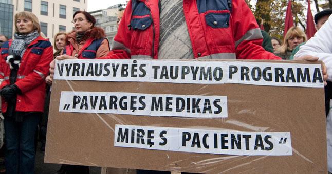 Gydytojų protestas | sandrauga.lt nuotr.
