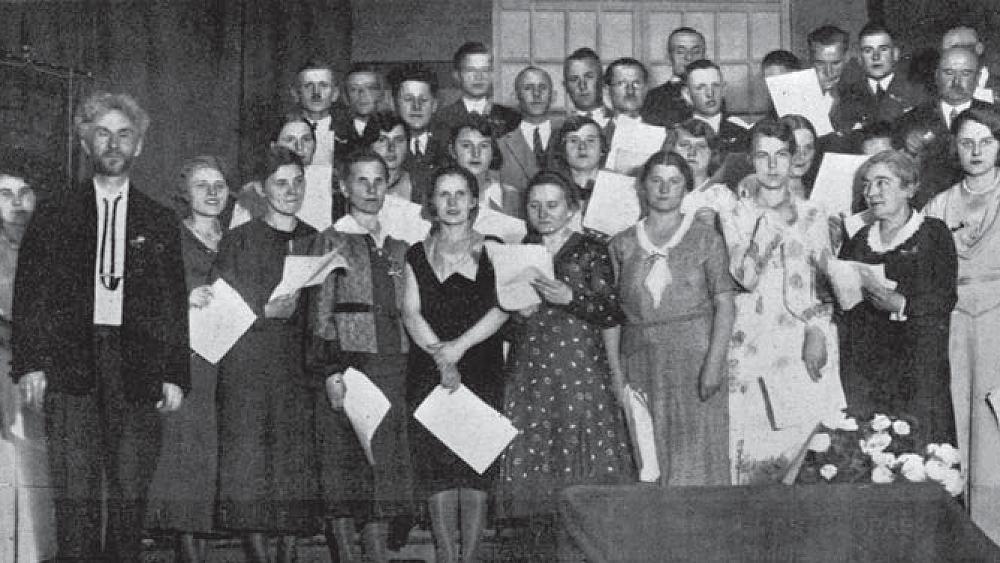 Tilzes lietuviu giedotoju draugijos choras ir jo dirigentas Vydunas. Vytauto Didziojo albumas. 1933. LCVA