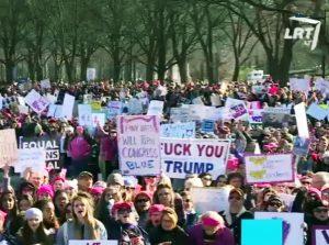 Demonstracijos prieš JAV prezidentą D. Trampą, JAV   Alkas.lt nuotr.