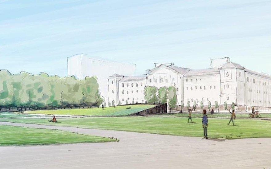 Lukiškių aikštės projektas, kurtas Andriaus Labašausko   Vilniaus miesto savivaldybės nuotr.