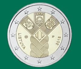 2 Eur proginė moneta, skirta Lietuvos valstybės atkūrimo 100-mečiui | monetos.lb.lt nuotr.