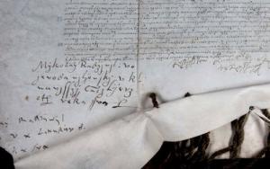Pergamentas su trijų Radvilų parašais | V. Kulikauskienės nuotr.