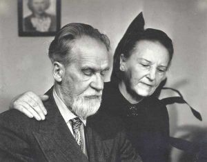 Bronislava ir Mykolas Biržiškos, LA, 1952 m.   Danutės Mažeikienės albumo nuotr.